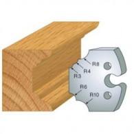 Couteau - LEMAN 855.220 - 1/4 de rond multiple - la paire