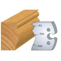 Couteau - LEMAN 855.222 - grain d'orge moulure - la paire