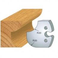 Couteau - LEMAN 855.238 - congé et 1/4 de rond 20 mm - la paire