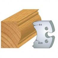 Couteau - LEMAN 855.242 - pied de table - la paire