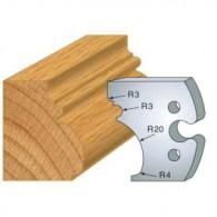 Couteau - LEMAN 855.243 - grand cadre régence - la paire