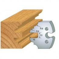 Couteau - LEMAN 855.250 - contre-profil double - la paire
