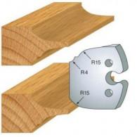 Couteau - LEMAN 855.252 - plate bande double - la paire