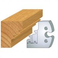 Couteau - LEMAN 855.253 - abattage 45° double - la paire