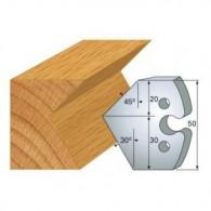 Couteau - LEMAN 855.272 - chanfrein 30° et 45° - la paire