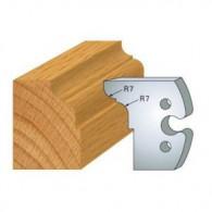 Couteau - LEMAN 855.273 - congé et 1/4 de rond r 7 - la paire