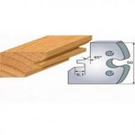 Couteau - LEMAN 855.276 - assemblage à 45° - la paire