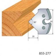 Couteau - LEMAN 855.277 - pointe à 45° - la paire