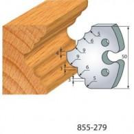 Couteau - LEMAN 855.279 - 1/4 de rond et congés - la paire