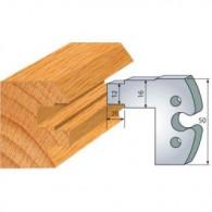 Couteau - LEMAN 855.282 - crémone de 16 mm - la paire