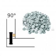 Capuchon - LAMELLO 01335280 - 90° - RAL9010 blanc - Bte 100