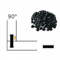 Capuchon - LAMELLO 01335281 - 90° - RAL9011 noir - Bte 100