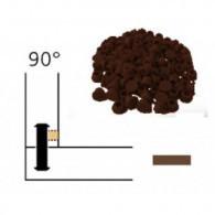 Capuchon - LAMELLO 01335284 - 90° - RAL8007 brun - Bte 100