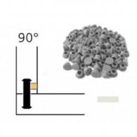 Capuchon - LAMELLO 01335285 - 90° - RAL9002 blanc gris - Bte 100
