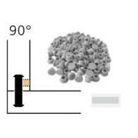 Capuchon - LAMELLO 01335286 - 90° - RAL7035 gris - Bte 100