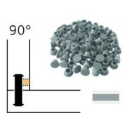 Capuchon - LAMELLO 01335287 - 90° - RAL7040 gris foncé - Bte 100