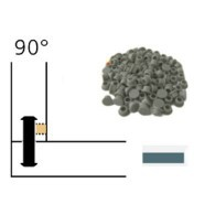 Capuchon - LAMELLO 01335288 - 90° - RAL7035 gris bleu - Bte 100
