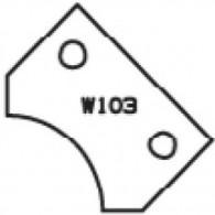 Plaquette - ELBE W103 - 30x20x2 mm - r 15 mm