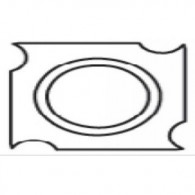 Plaquette - ELBE W22 - 14x14x2,5 mm