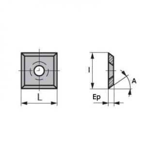 Plaquette - ELBE W4 - 14,5x14,5x2 mm