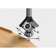 Mèche 1/4 de rond à plaquettes - FESTOOL 499809 - r 2 mm - Ø 28mm - Q8