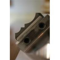 Plaquette - ELBE W618 - 1/4 rond r 8 et r 15 mm