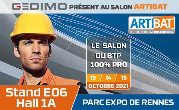 Gedimo présent au salon ARTIBAT 2021 à Rennes