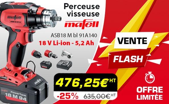 Vente flash perceuse-visseuse Mafell ASB18 M bl 91A140 - 18 V Li-ion - 5,2 Ah