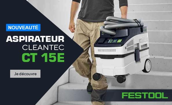 Nouvel aspirateur cleantech CT 15E Festool 575988 - 1200 W - 230 V - 15 l