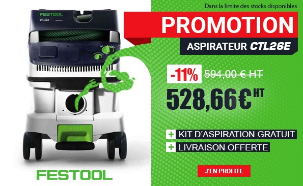 Promotion Aspirateur Festool CTL26E 574947